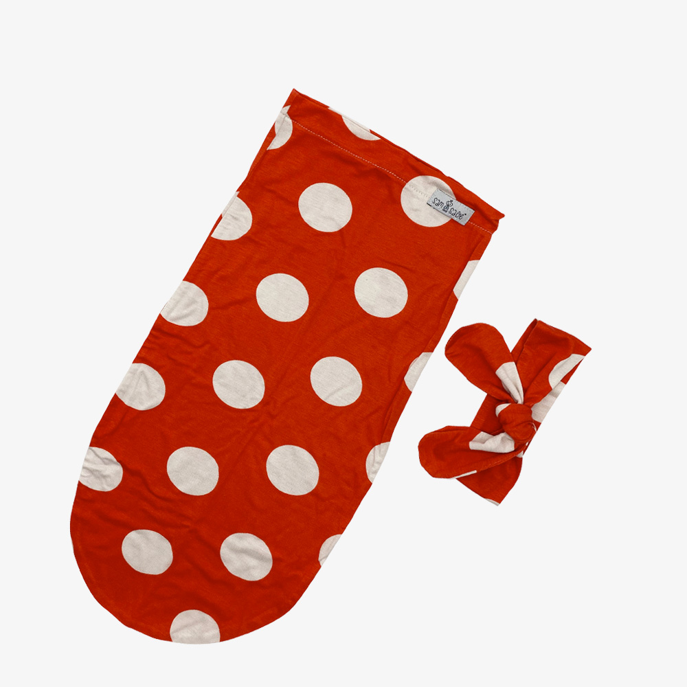 red swaddle sleeping sack for girls