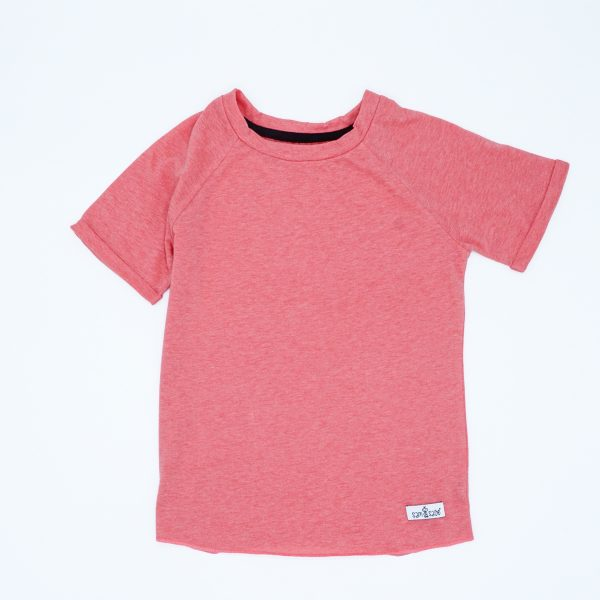 Coral coloured tee for toddlers