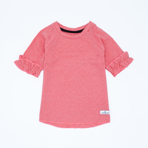 coral t-shirt for baby girls