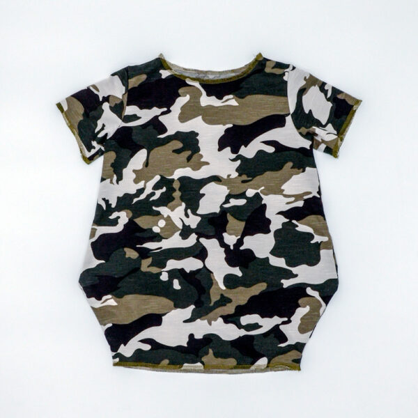Camouflage loose fit dress for girls