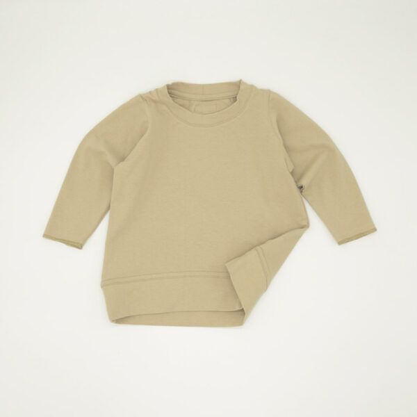 Beige lightweight boxy tracksuit top for kids
