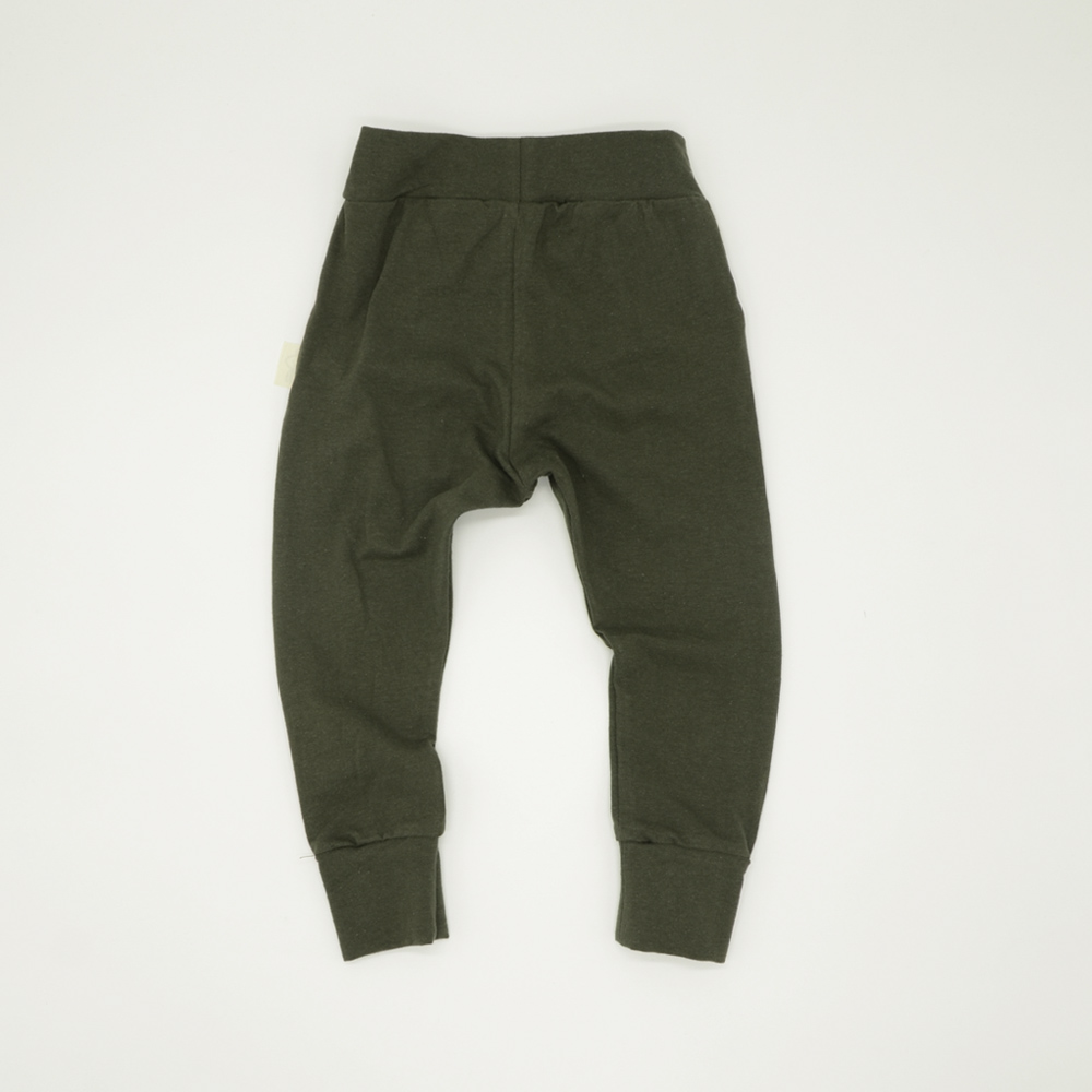 Unisex green tracksuit pants for babies