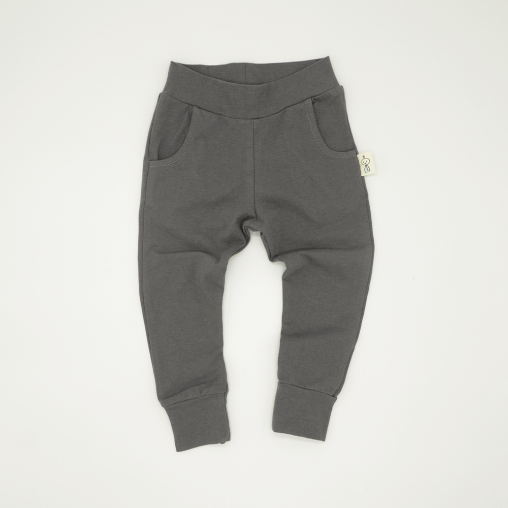 Unisex grey tracksuit joggers for kids