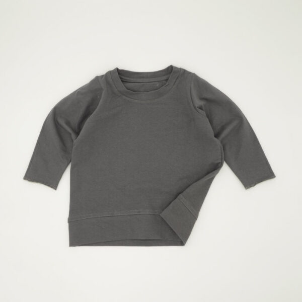Graphite grey lightweight boxy tracksuit top for kids
