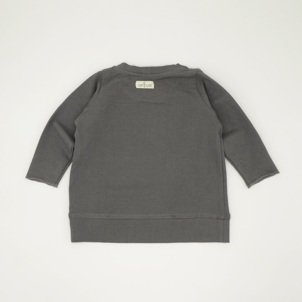 Grey lightweight boxy tracksuit top for kids