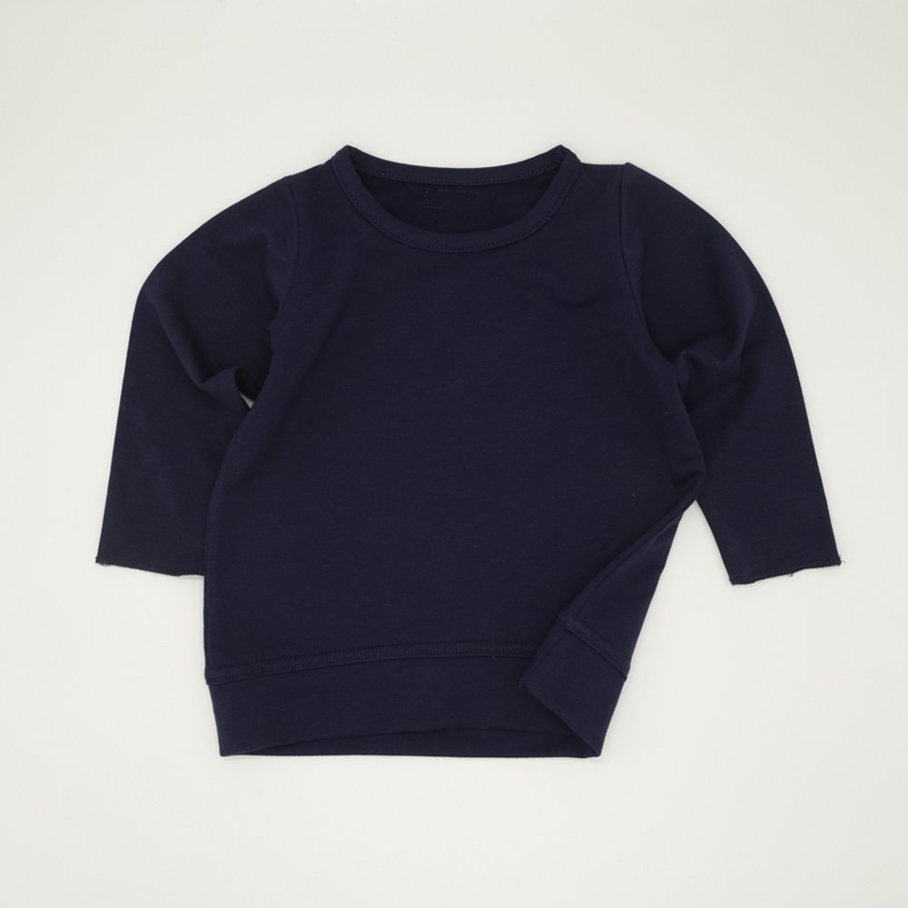 Navy blue unisex boxy tracksuit top for kids