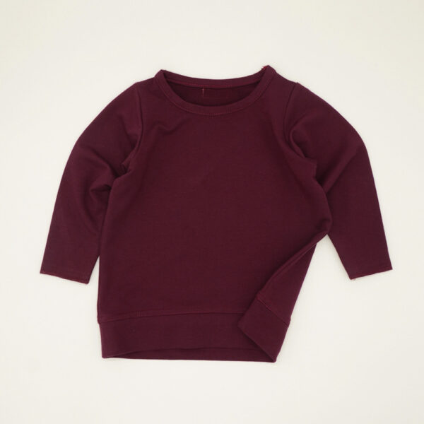 Maroon unisex boxy tracksuit top for kids