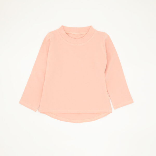 Pink Long Sleeved Cotton Tee for Kids