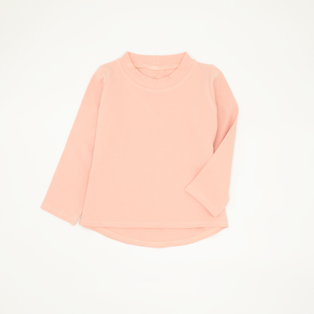 Long-Sleeved Pink T-Shirt for Girls