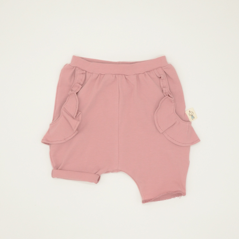 Pink frilly summer shorts for girls