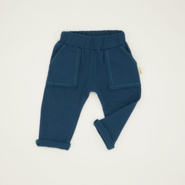 Teal joggers with pockets for toddlers