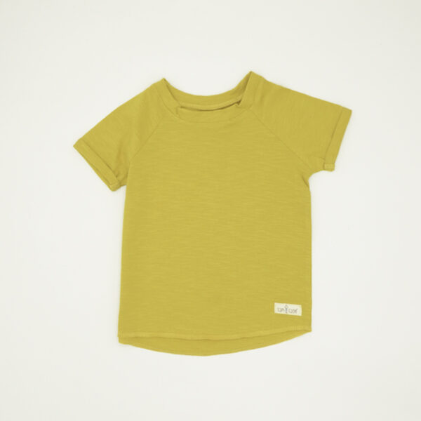 Unisex yellow short sleeved tee toddlers